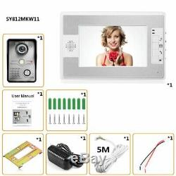 7 Inch TFT LCD Screen Display Wired Doorbell Night Vision Infrared kW