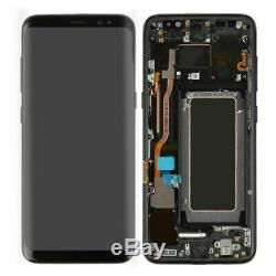Black Pour Samsung Galaxy S8 G950 G950F LCD Display Touch Screen Digitizer Frame