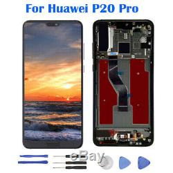 Pour Huawei P20 Pro LCD Display Touch Screen Digitizer Assembly With Frame Tools