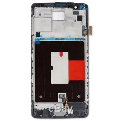 Pour OnePlus 3 A3000 A3003 LCD Display Digitizer Touch Screen Frame Bouton Noir