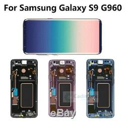 Pour Samsung Galaxy S9 G960 Display LCD Écran Vitre Tactile Screen Touch Frame H