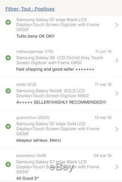 Samsung Galaxy S6 Edge Plus Gold LCD Display+Touch Screen with Frame G928