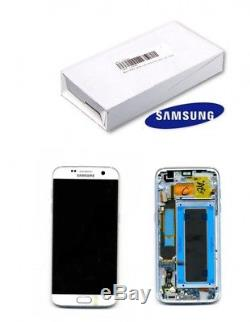 Samsung Galaxy S7 Edge White LCD Display+Touch Screen Digitizer with Frame G935