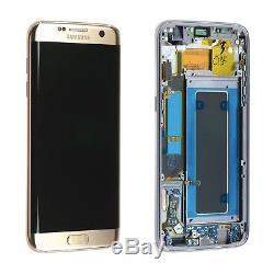 Samsung Galaxy S7 edge Gold LCD Display+Touch Screen Digitizer with Frame G935f